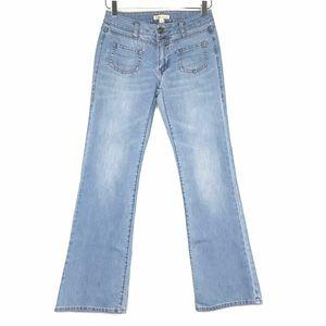 CAbi Light Wash Bootcut Blue Jeans A130743